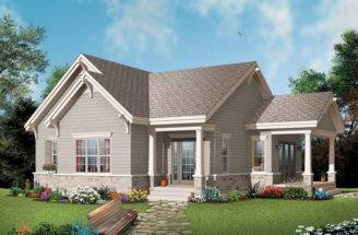 Narrow Lot Craftsman House Plans Houseplansandmore