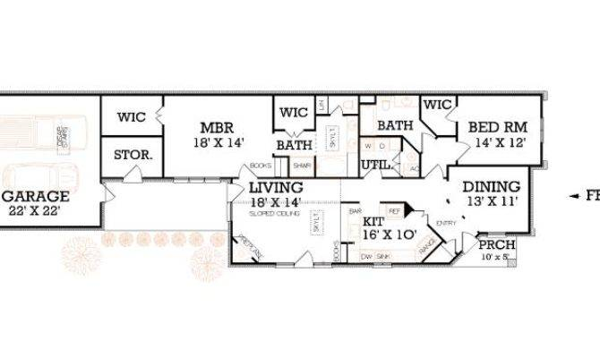 Narrow Lot Floor Plans House Two Story
