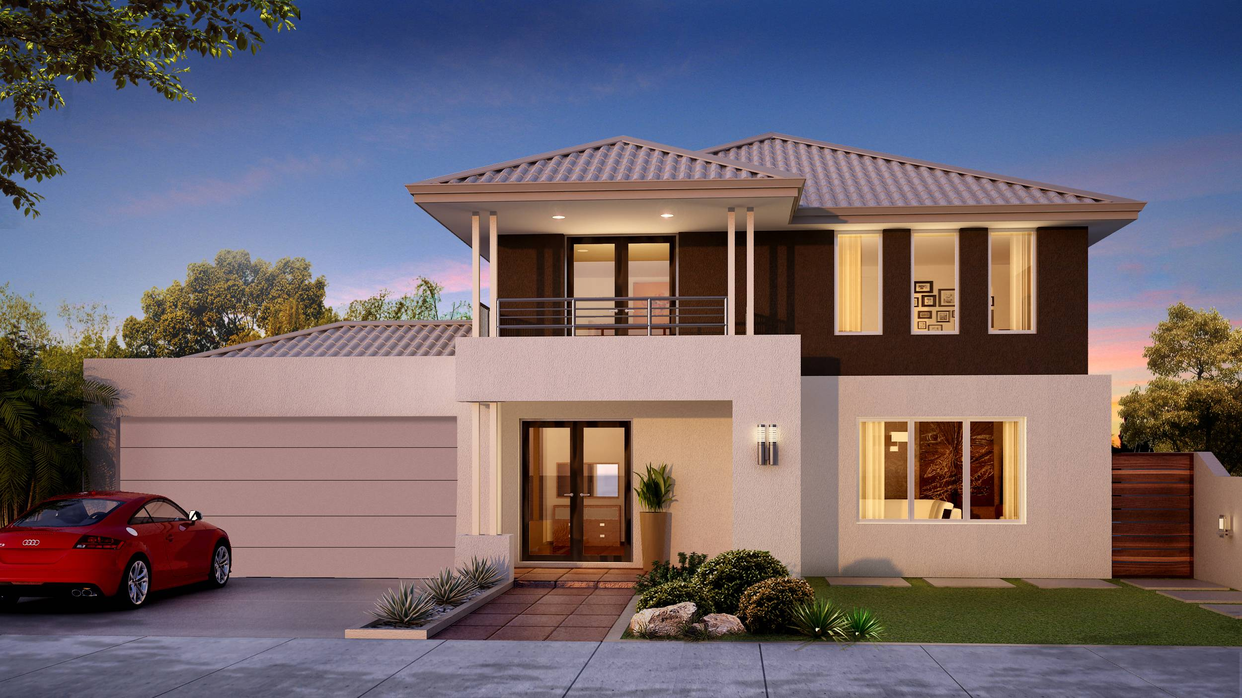House Plans Design Modern Double StoreyHome Building Plans72434. Modern house plans double story