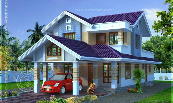 Narrow Lot House Plan Kerala Home Design Floor Plans