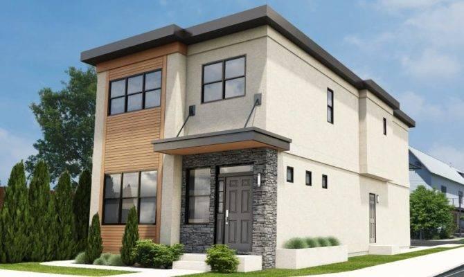 Narrow Lot House Plans Contemporary Duplex
