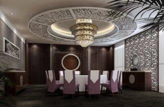 Neoclassical Style Restaurant Room Interior Design