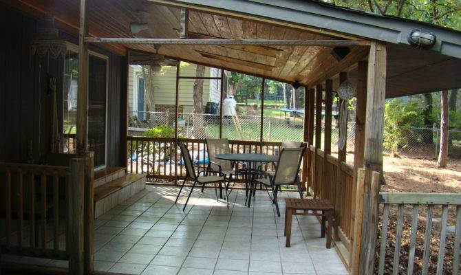 New Back Porch Looking