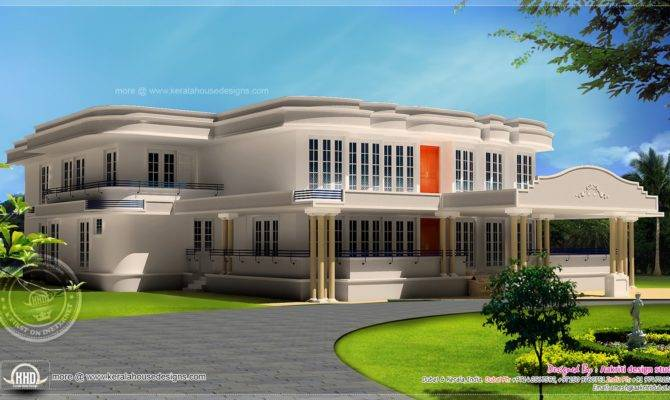 New Luxury Villa Exterior Feet Kerala Home Design