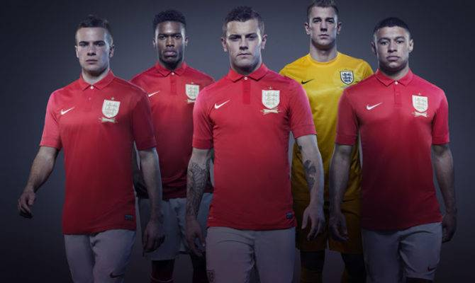 New Nike England Home Away Kits Released Footy Headlines
