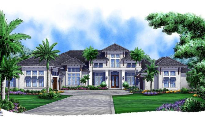 New West Indies House Plan Designed Florida Golf Course