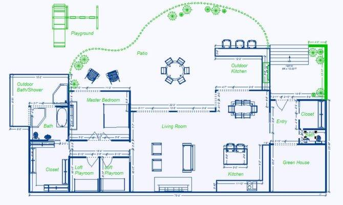 Simple Underground House Blueprints Placement Home