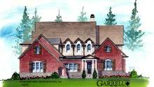 Oak Manor House Plan Front Elevation Master Down Plans