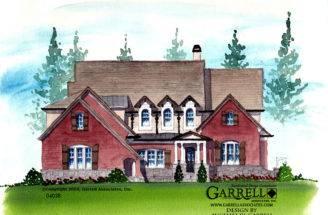 Oak Manor House Plan Front Elevation Master Down Plans