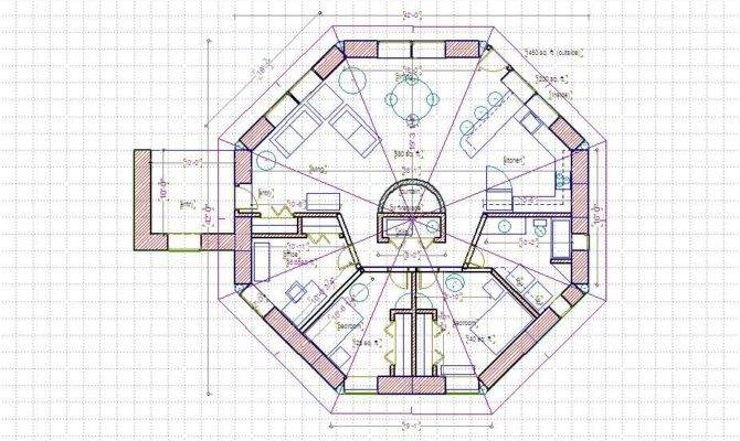 Octagon House Plans on hexagon cabin plans