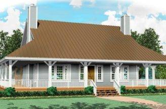 One Half Story Bedroom Bath Country Style House Plan