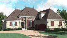 One Half Story Bedroom Bath French Country Style House Plan