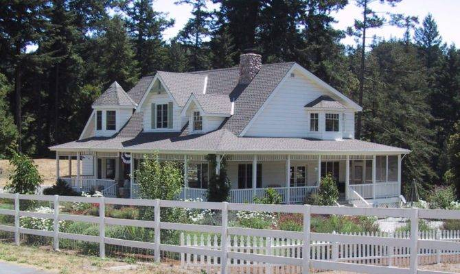One Story Country House Plans Wrap Around Porch