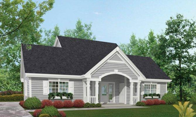 One Story House Porch Two Plans Chatham