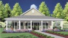 One Story House Wrap Around Porch Dream Home