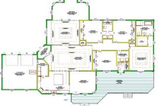 One Story Luxury Home Plans Large Single