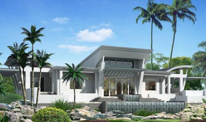One Story Modern House Design Homes