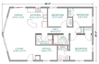 One Story Modular Home Plans Including Ranch