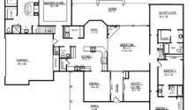 One Story Open Floor Plans Bedrooms Four Bedroom Dutch