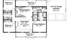 One Story Ranch House Plans Country Plan First Floor
