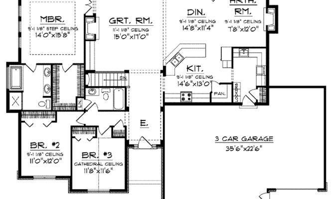 Open Floor Small Home Plans Ranch Plan Hwbdo