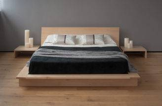 Oregon Low Platform Bed Solid Wood Natural