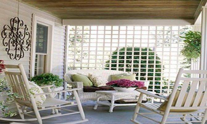 Outdoor Beautiful Back Porches Ideas Comfortable