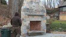 Outdoor Fireplace Slate Deck Broadbent Construction Client