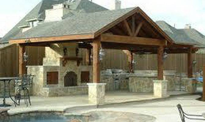 Outdoor Kitchen House Plans Pool