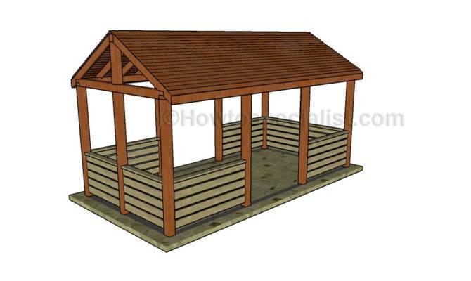 Outdoor Pavilion Plans Build Picnic Shelter