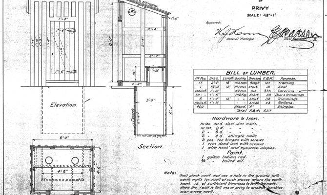 Outhouse Need Great Plans Instructions