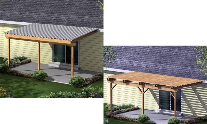 Patio Cover Shelters Space Sun While Allowing Partial