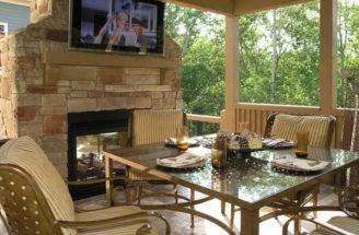 Patio Ideas Fireplace Best Outdoor