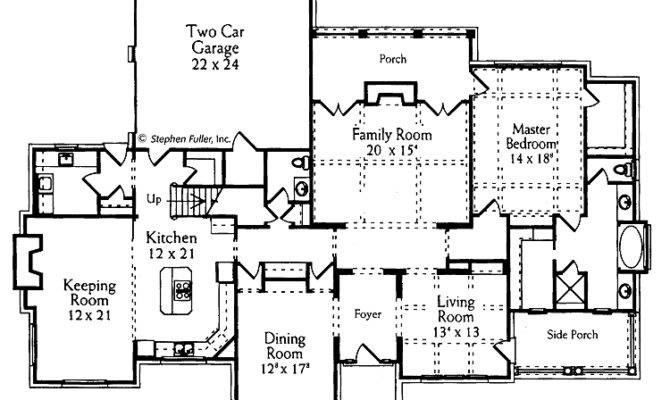 Plan Large Keeping Room Hwbdo French Country House