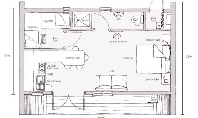 Plan Sketch Forest House Cairns Pic Fly