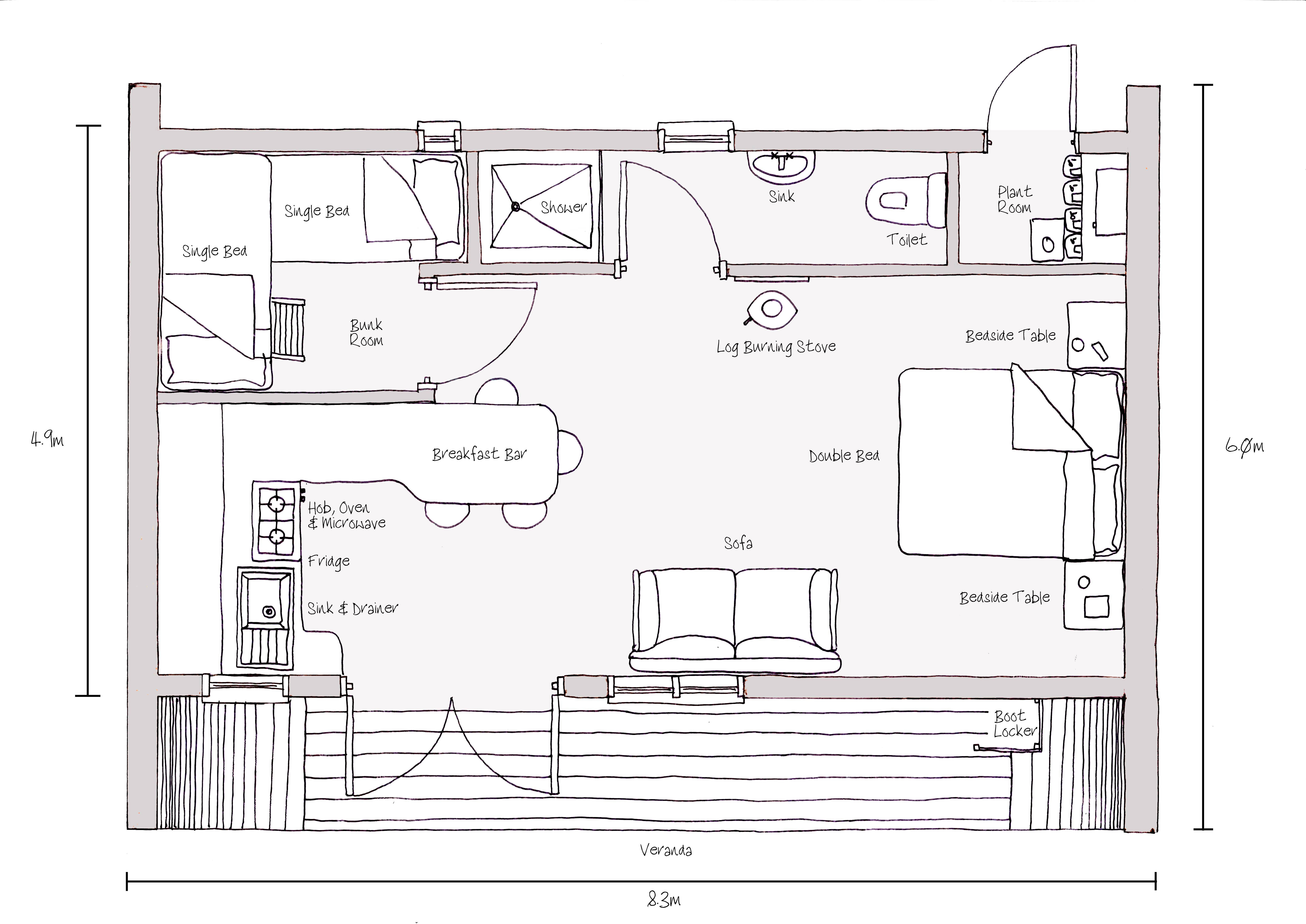 Plan Sketch Forest House Cairns Pic Fly Home Building