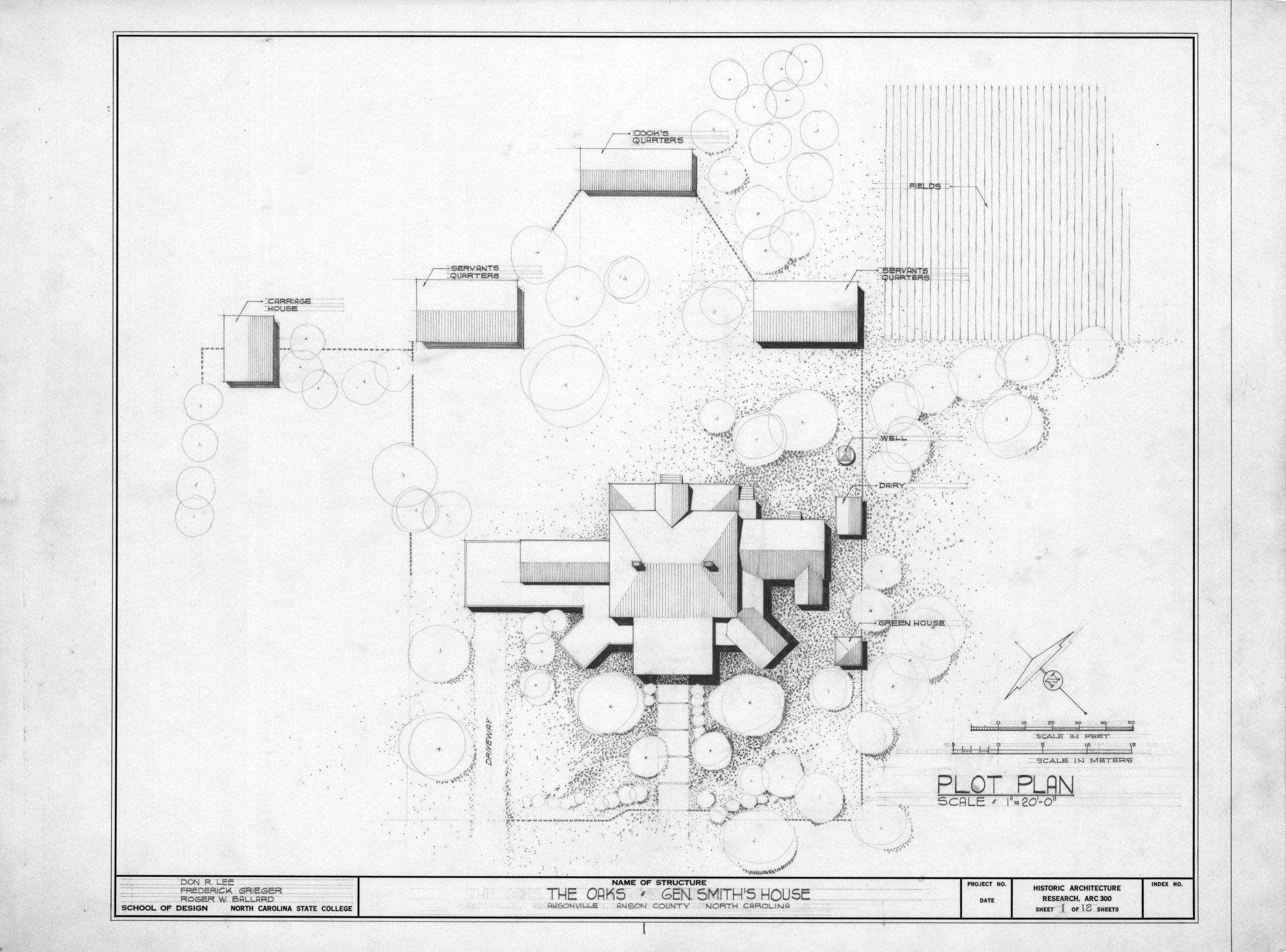 Image 14 of 20 click Image to enlarge  Plan William Smith House Ansonville  North Carolina. House Site Plan