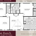 Plans Bedroom House Floor Mobile Home