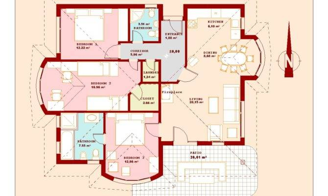 Plans Bedroom House Low Country Home