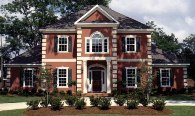 Plans Colonial House Southern Greek Revival