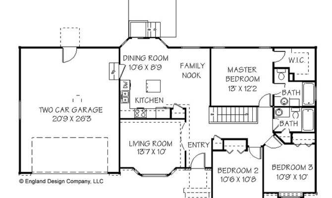 Plans Floor Simple Ranch House Home Plan Designs