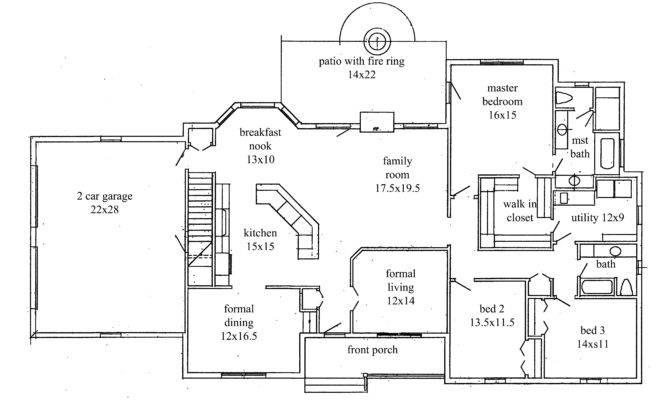 Plans New Construction Home Floor Plan Greenwood