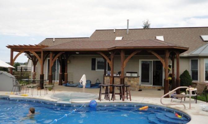 Pool House Designs Outdoor Kitchen One Best Design