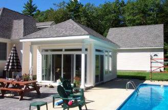 Pool House Floor Plans Glass Small