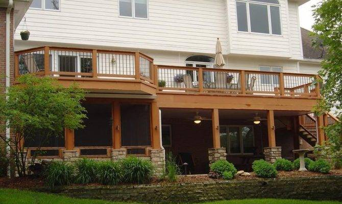 Porch Under Deck Decks Ideas Screens Porches Outdoor Living