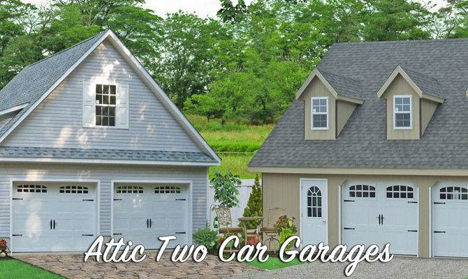Prefab Garages Attic Loft Space Two Car Amish