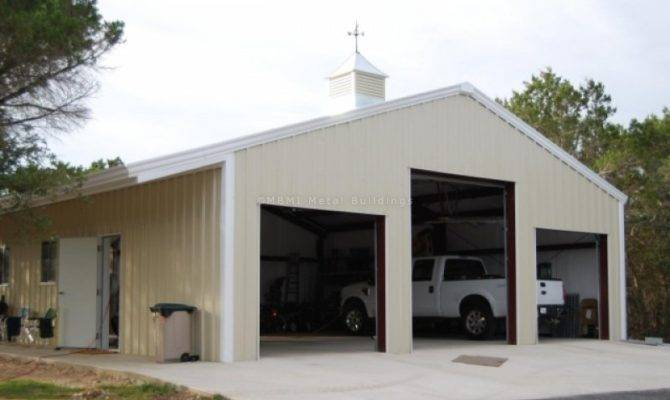 Prefabricated Steel Garage Buildings One Two Car Metal Kits