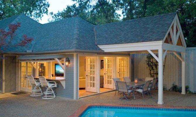 Pretty Cool Attached Pool House Projects Pinterest