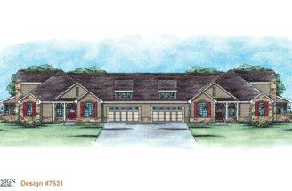 Quadplex French Country Home Plan Design Basics
