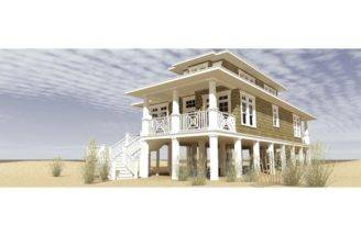 Raised Beach House Classic Cape Cod Style Hwbdo